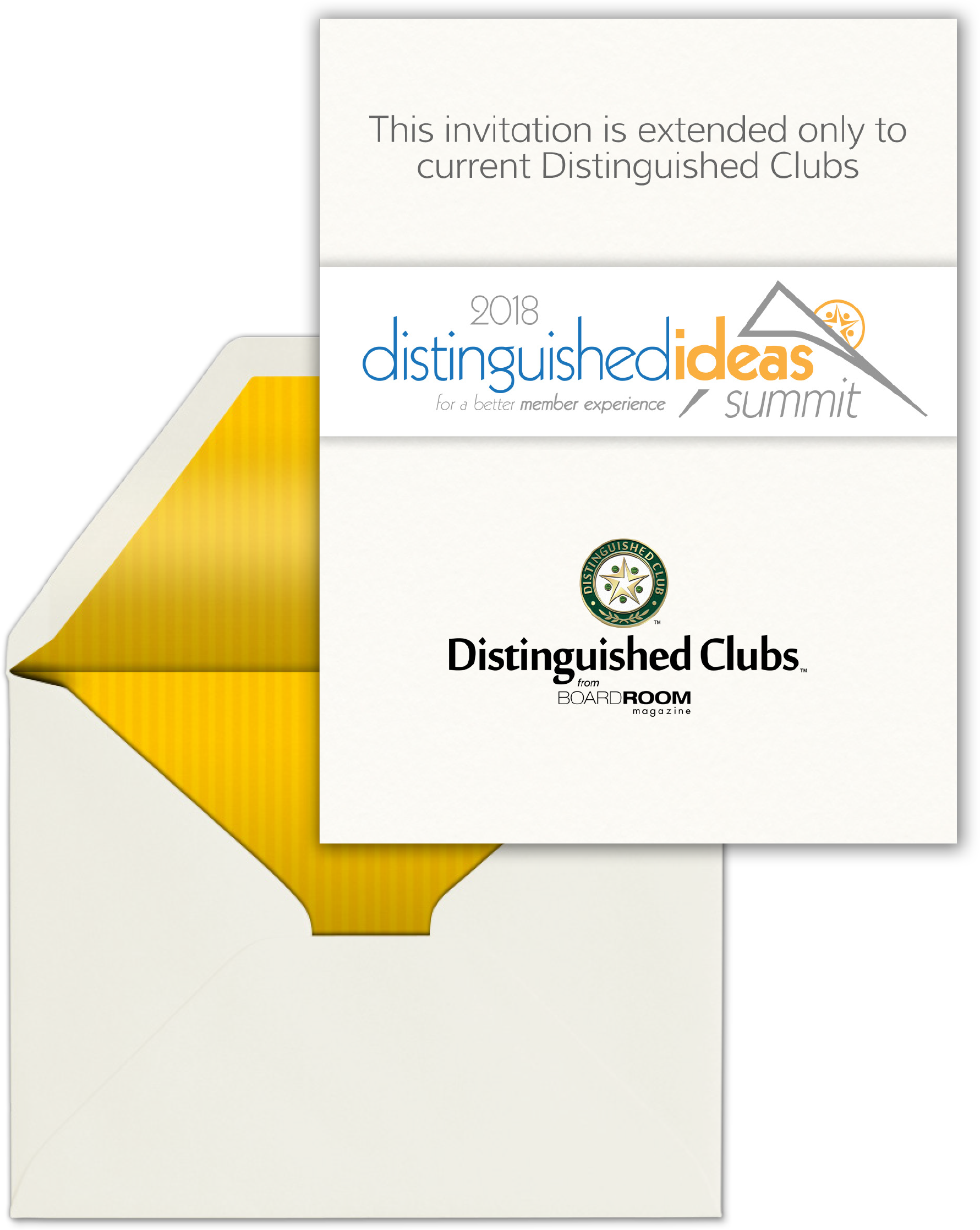 2018 Distinguished Ideas Summit Invite